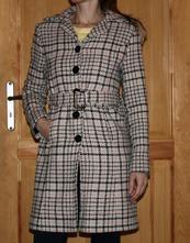Barevný kabát vel 38, s