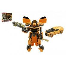 Auto/transformer žluté plast v krabici 28x23x8cm,