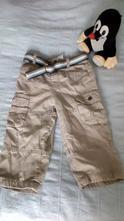 Příjemné manžestrové kalhoty s páskem, c&a,86