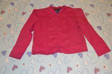 Bavlněné růžové sako, sáčko vel. 116/122, 116