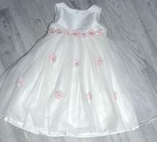 Slavnostní společenské tylové dlouhé šaty družička, 104