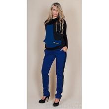 Těhotenské kalhoty karolina - modré, l - xxxl