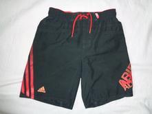 Luxusní šedočervené kraťasy alias plavky adidas, adidas,140