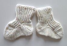 Teplé pletené ponožky vel. 0-6 měsíců 14-16 cm, 24