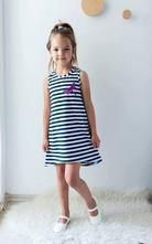 Pruhované letní šaty, 98 - 140