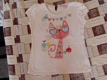 Tričko s kočičkou happy, 128