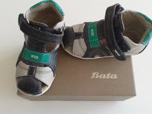 Šedozelené dětské letní sandálky od bati, vel. 23, baťa,23