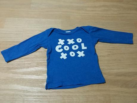 Tričko s dl. rukávem modré cool, lindex,74