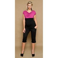 Těhotenské kalhoty anna 3/4 - černé, m - xxxl