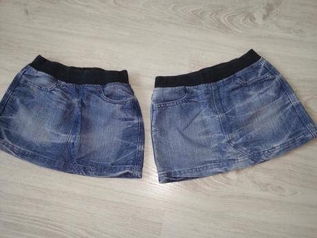 Riflová/džínová sukýnka 2x, f&f,98