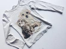 Dívčí tričko kočička a pejsek č.225, h&m,110