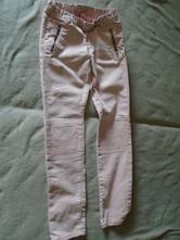1344-růžové džíny hm 9-10 let, h&m,140