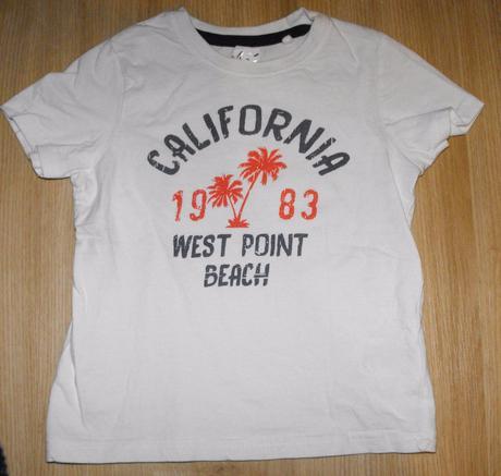 A170. bílé tričko california, lupilu,98