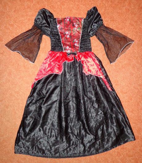 Kostým šaty čarodějnice, tesco, vel. 11-12 let.,