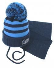 Zimní pletená čepička s šálou, 68 - 110