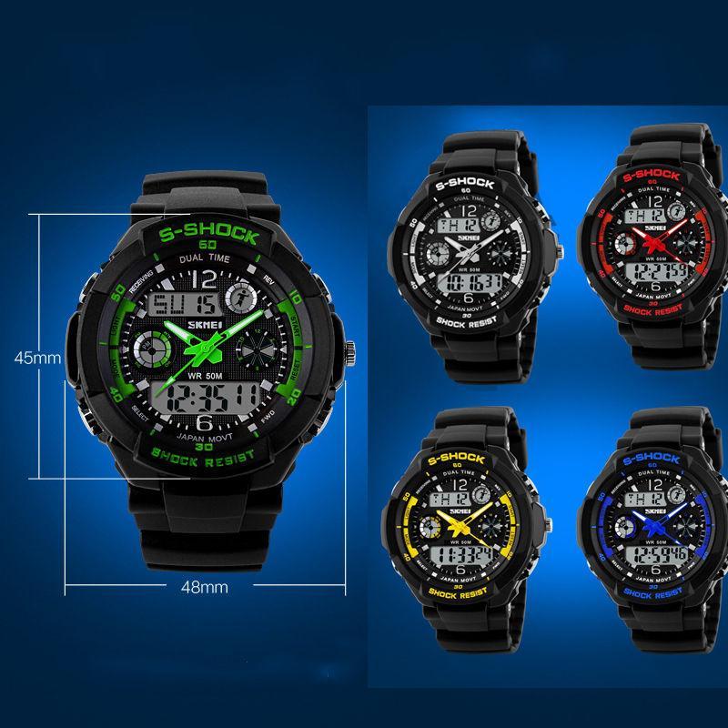ad87d9d4b Pánské hodinky skmei s-shock - různé barvy, - 379 Kč Od prodejkyně maffay11  | Dětský bazar | ModryKonik.cz
