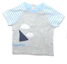Bavlněné tričko s lodičkou, tu,68