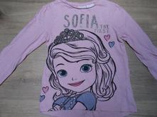 Růžové tričko sofie první, disney,104
