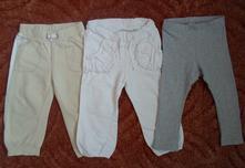 Bílé béžové tepláky tepláčky, h&m,86