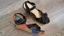 Páskové letní boty na klínu vel.39, 39