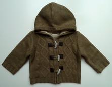 Zateplený propínací svetr s kapucí vel. 68, tiny ted,68
