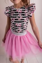 Růžová dívčí tylová sukně, 98 - 140