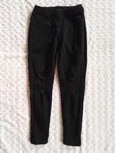 Černé skinny džíny trhané a dřené leginy, calzedonia,xs
