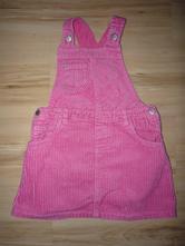 Manšestrové růžové šaty s laclem, mothercare,98