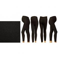 Těhotenské legíny termo - černé 1d60085544