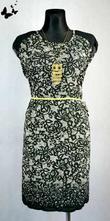 Černo-bílé lehké šaty vel 50, 50