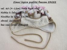 Zimní čepice podšitá fleecem zn. ergee, ergee,80