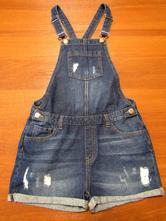 Laclové džínové šortky vel 158, denim,158