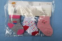 Nové ponožky pro miminko - 3 ks,