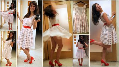 RETRO!! Asi tak dvoukolová sukně a neskutečně boží šaty!!!!