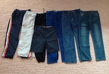 6x kalhoty+1x kraťasy 152-158, h&m,152