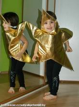 Karnevalový kostým vánoční zlatá hvězda,