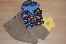 Komplet zateplených kalhotek a mikinky, vel. 74, early days,74