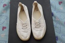 Bílé plátěné balerínky, h&m,41