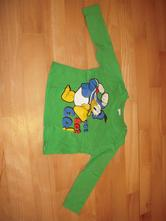 P482 zelené tričko s kačerem, disney,80