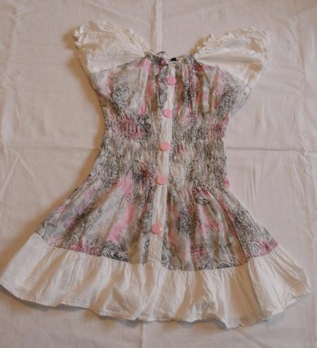 L9dívčí šaty se spadlými rukávy vel. 122-128, 122