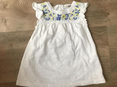 Bavlněné tričenko s romantickou výšivkou next, next,74