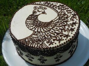 """""""Tetovaný"""" dort pro švagrovou k narozeninám"""