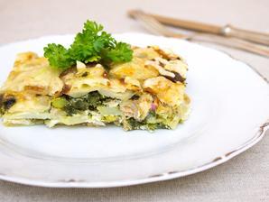 Zapečené brambory s tuňákem a zeleninou