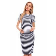 Těhotenské letní šaty - granátový proužek, l / m / s / xl