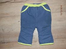 Tmavě modré vyteplené kalhoty zn. babibou, 80