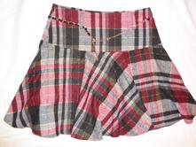 e0652195d54f Luxusní teplejší káro sukně s páskem