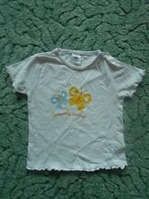 Tričko s motýlky, baby club,74