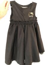 Černé šaty s hello kitty, h&m,104