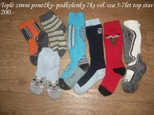 Dětské ponožky-podklolenky zimní, 116