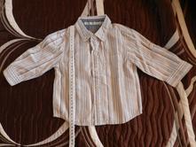 Košile dlouhý rukáv proužky, next,74